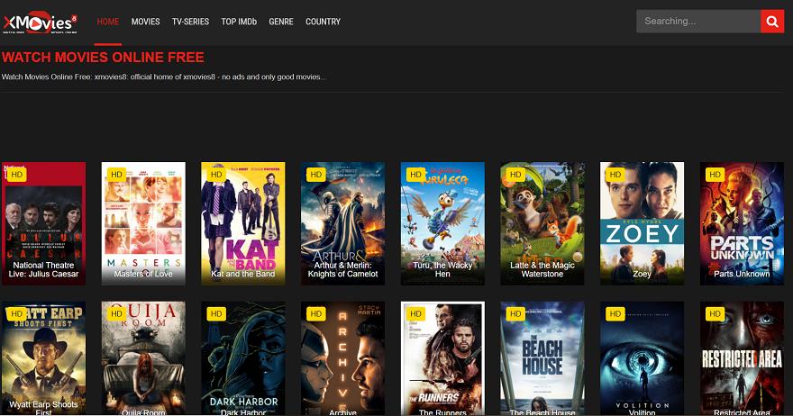Xmovies8 es uno de los sitios donde se pueden encontrar películas onlie gratis