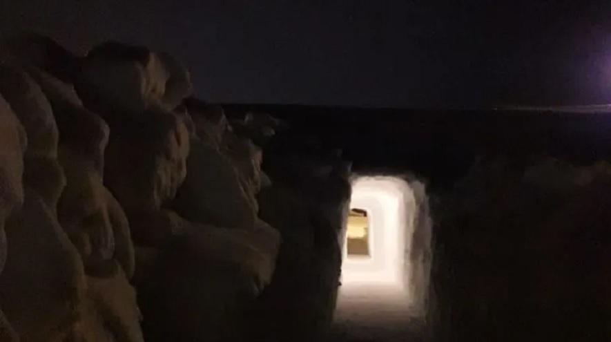 El tunel es la única salida de la casa