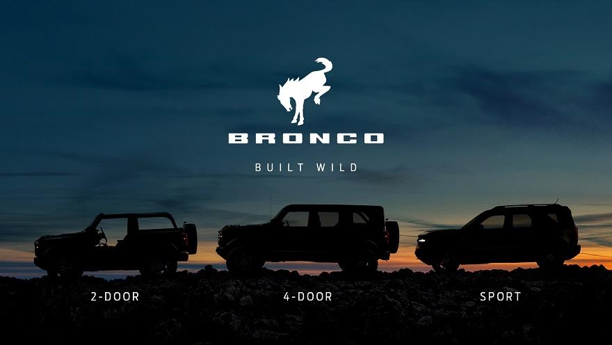 Ford Bronco, en tres versiones.