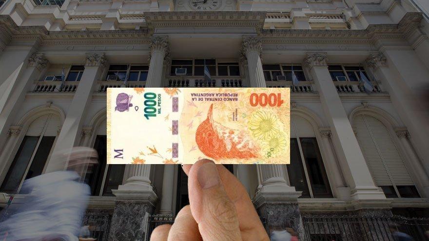 El billete de $1000, que es el de mayor denominación actual, quedó