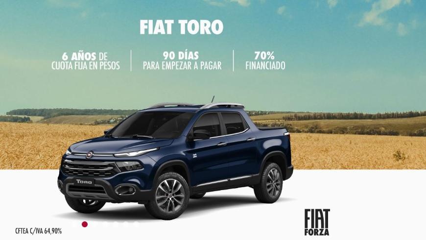 Fiat Toro se puede comprar hoy y empezar a pagar en 90 días.