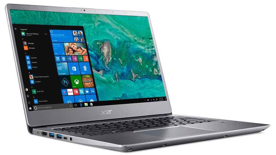 La notebook de Acer es una de las más ligeras en su clase.