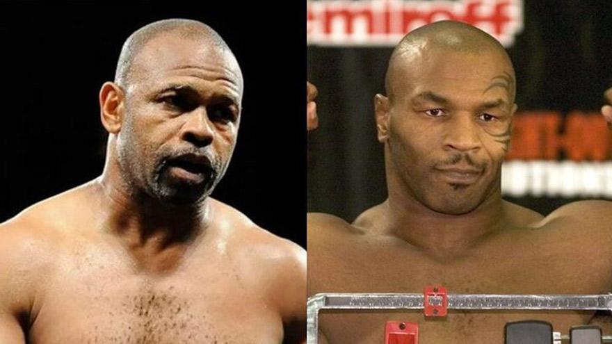 Roy Jones Jr. y Mike Tyson.