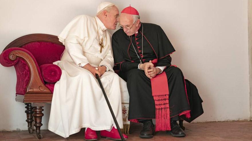 El film hace foco sobre la relación entre Ratzinger y Bergoglio.