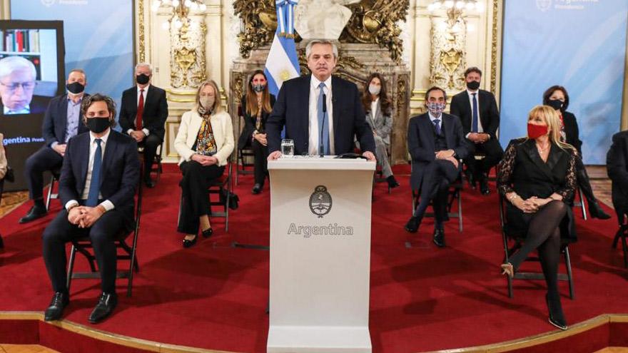 La presentación de la reforma judicial se realizó en la Casa Rosada.