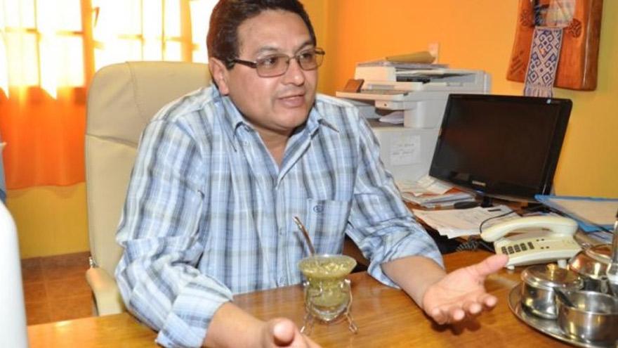 Fabián Pilquinao, intendente de Sierra Colorada.
