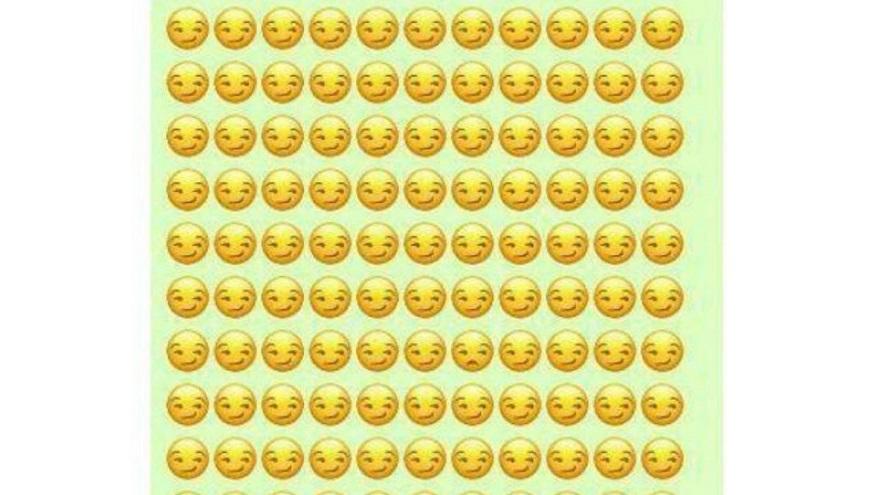 El desafío de encontrar el emoji diferente en menos de 20 segundos.