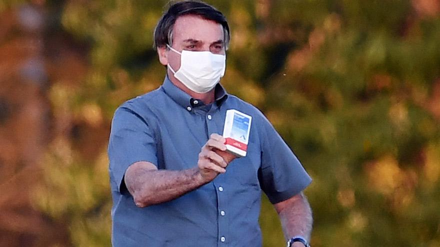Bolsonaro recién recuperado del coronavirus.