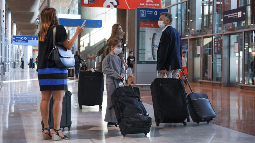 Macri viajó a Francia junto a su familia en un vuelo de Air France.