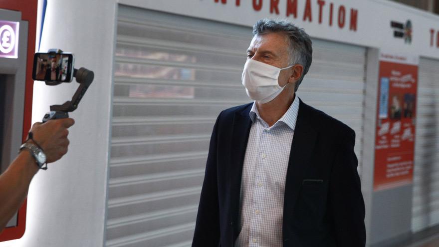 Tras el silencio autoimpuesto, Macri aprovechó la jornada opositora para levantar el perfil político