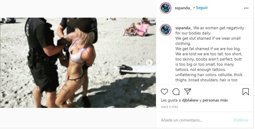 La acróbata cuenta el hecho en su Instagram.