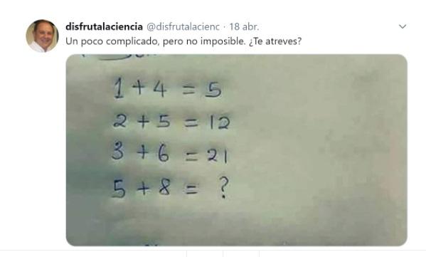 El desafío publicado por el profesor.