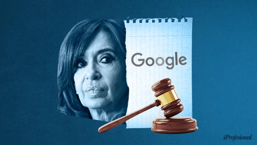 Los abogados de Cristina buscan una nueva jurisprudencia sobre responsabilidad de los buscadores
