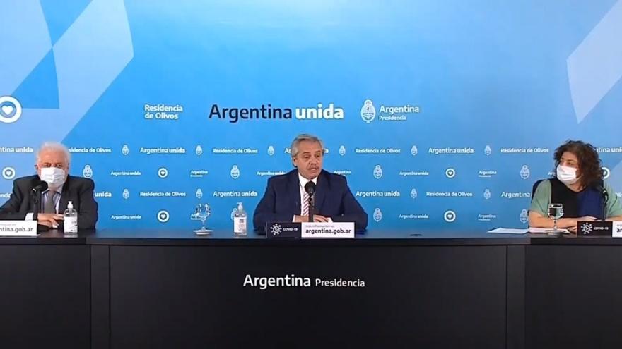 En el anuncio de la producción de la vacuna, el Presidente destacó que Argentina haya sido elegida para la producción