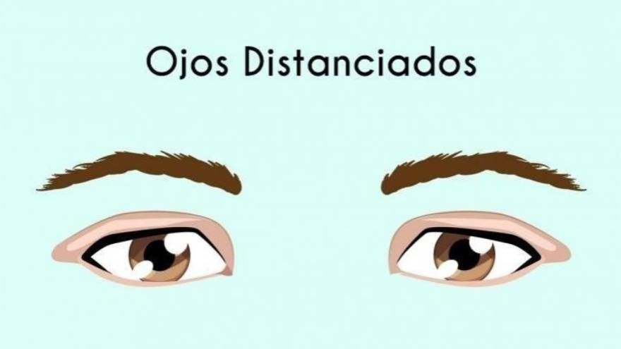 4. Ojos distanciados