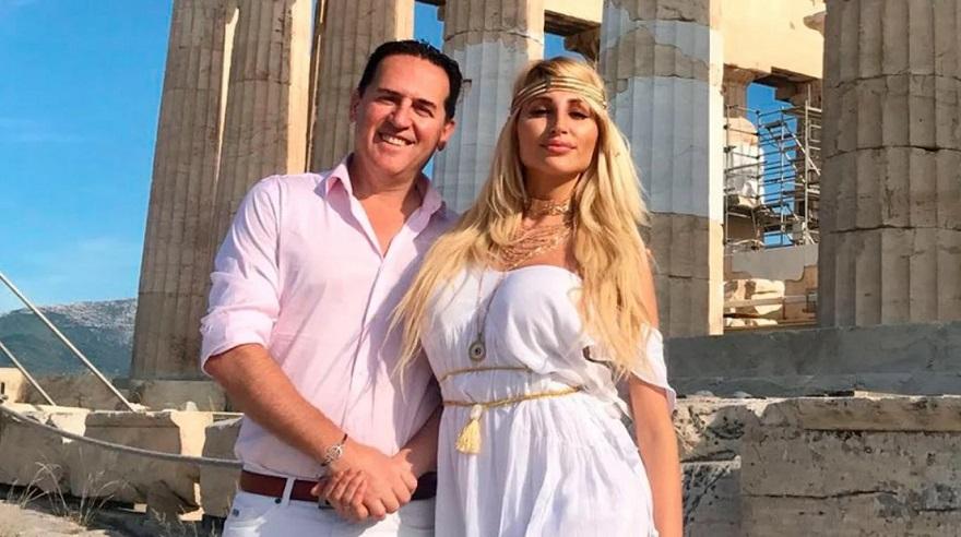 Vicky junto a su ex, el banquero Naselli.