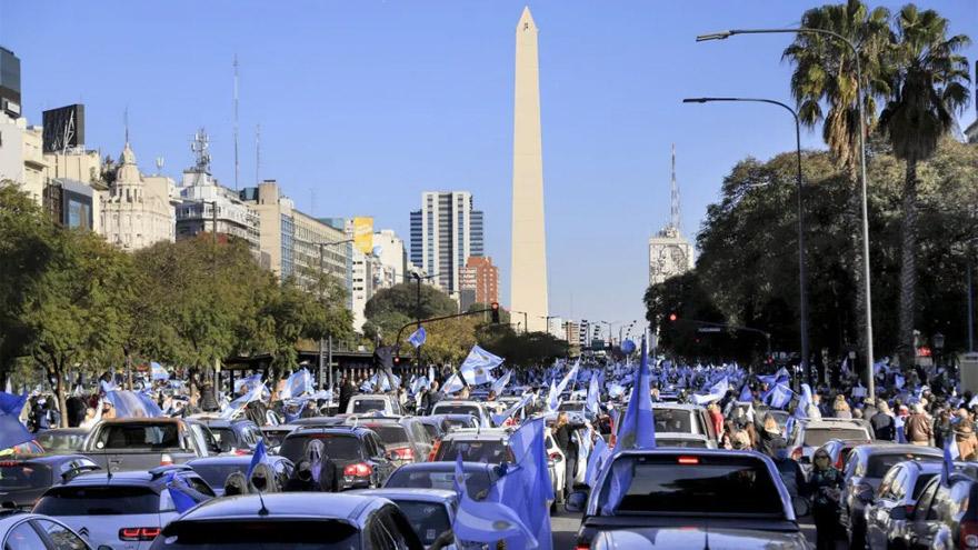 Para el Gobierno, las protestas del lunes tuvieron reclamos