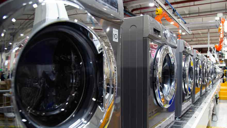 Los lavarropas son algunos de los electrodomésticos que más consumen.