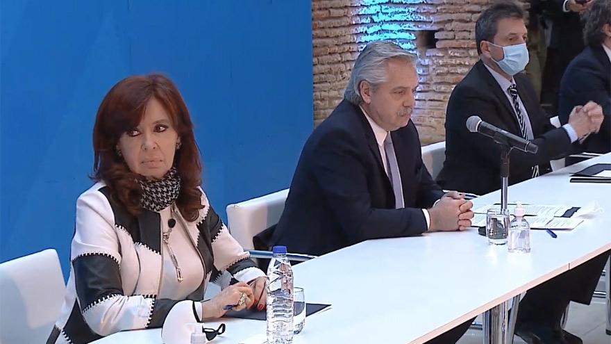 El anuncio contó con la presencia de Cristina Kirchner, Sergio Massa y Horacio Rodríguez Larreta, entre otros.
