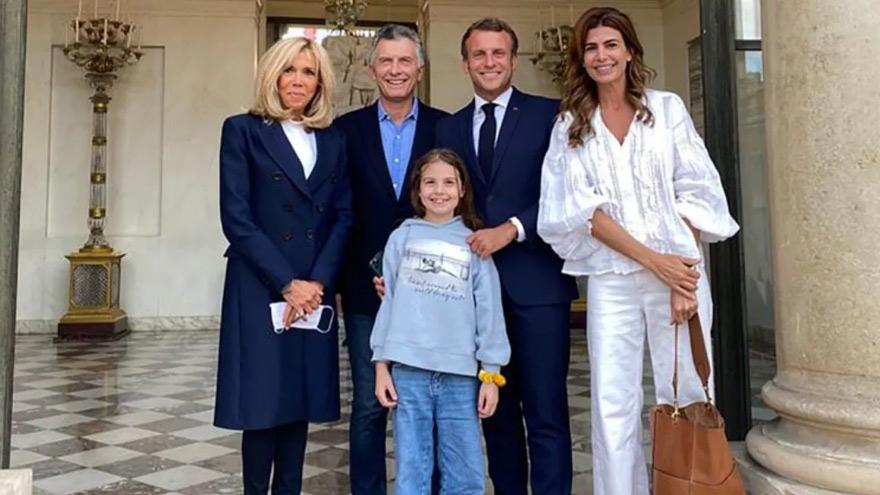 Macri visitó al presidente de Francia.