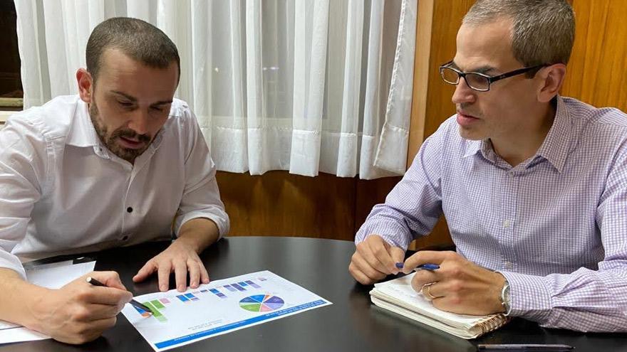 Ramiro Tosi con Guzmán: el ministro le encomendó la desdolarización financiera mediante nuevos instrumentos en pesos