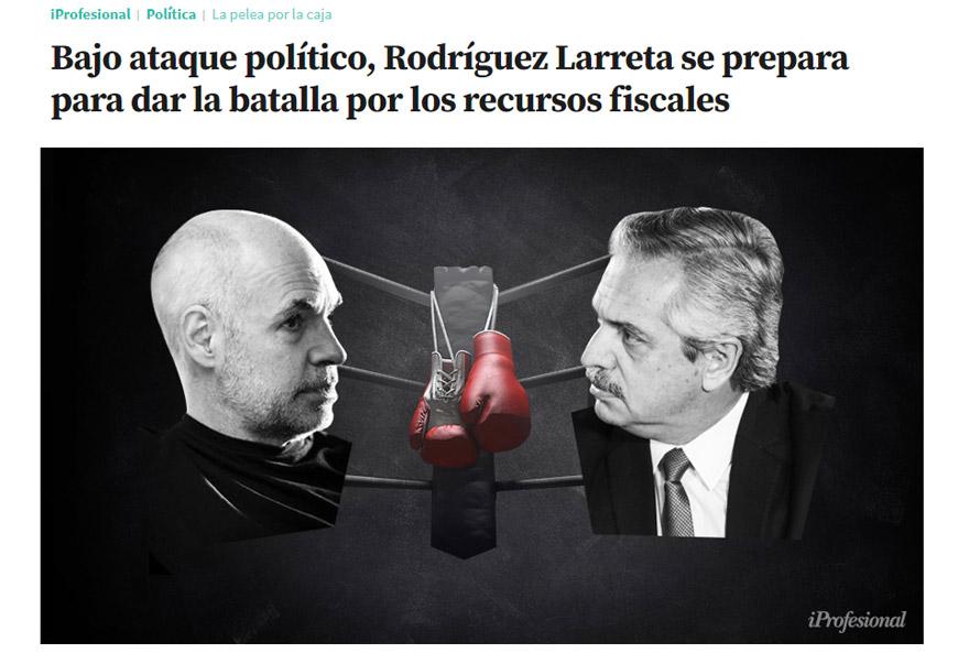 iProfesional adelantó que Fernández buscaría el fortalecimiento de la provincia por la vía de tomar recursos fiscales de la Ciudad