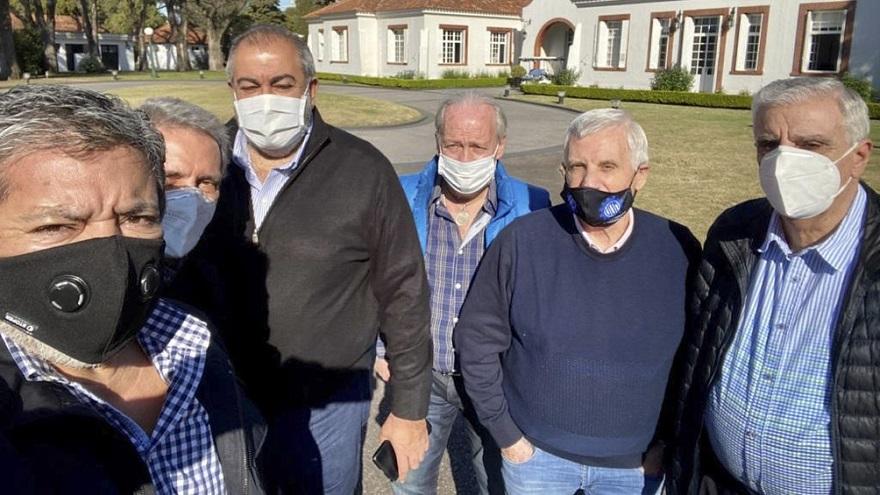Gremialistas en Olivos: Fernández almorzó con líderes de la CGT a principios de septiembre.