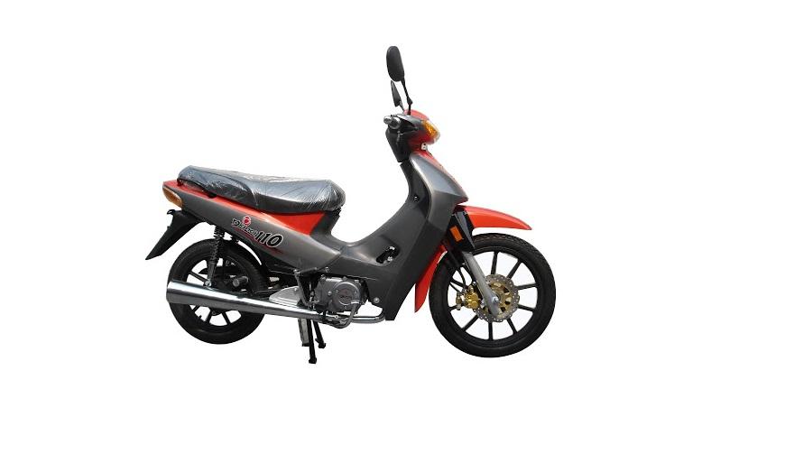La moto de 110 cc de Okinoi.