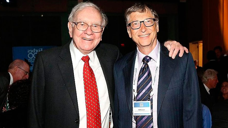 Bill Gates junto a Warren Buffet