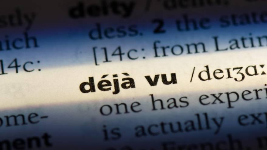 Déjà vu quiere decir ya visto en francés.