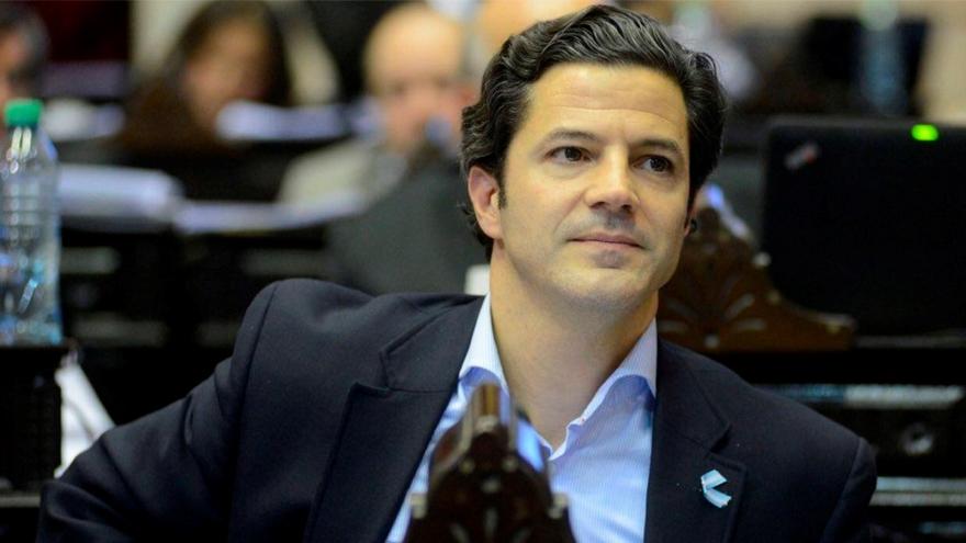 El diputado Laspina, orador del PRO contra el aporte solidario.