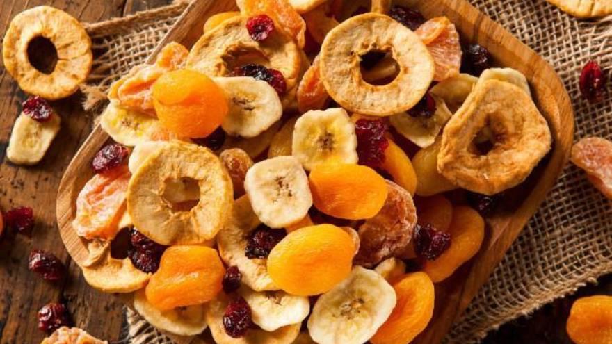 Las frutas desecadas se suelen consumir a modo de snack o colación