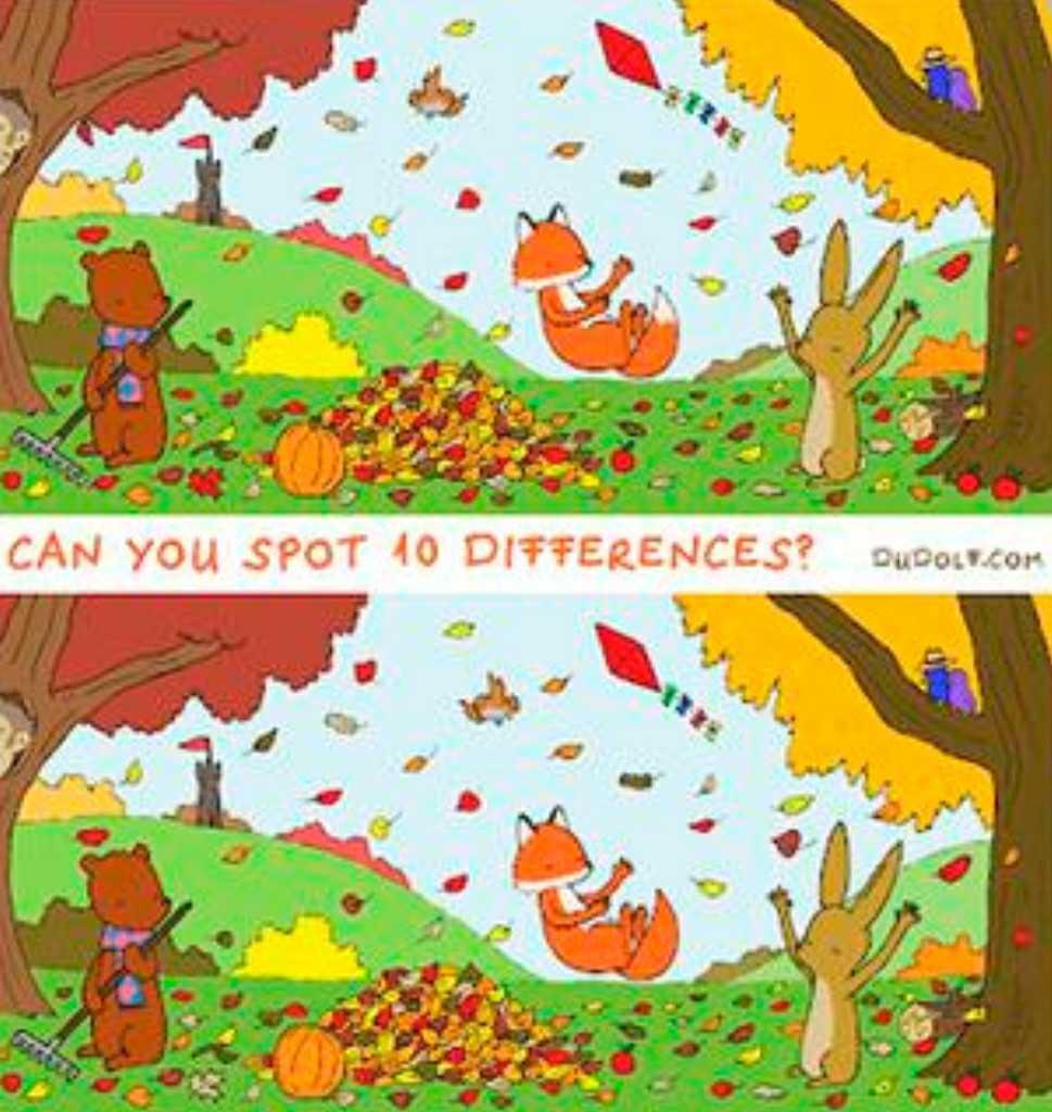 ¿Podés encontrar las diferencias entre las dos imágenes?