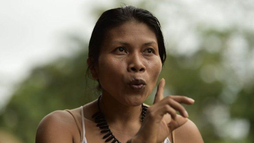 Neonte Nenquino, líder del movimiento indígena del Amazonas