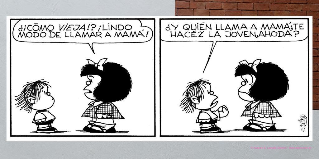 Guille y Mafalda protagonizaron una gran cantidad de escenas de la historieta