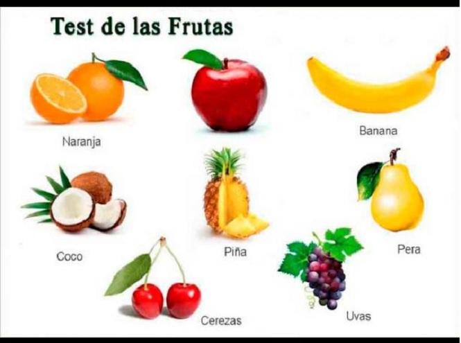 Las frutas también pueden describir qué tipo de personalidad tenés