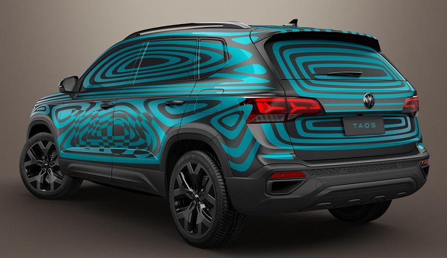 Volkswagen Taos, así es su imagen posterior.