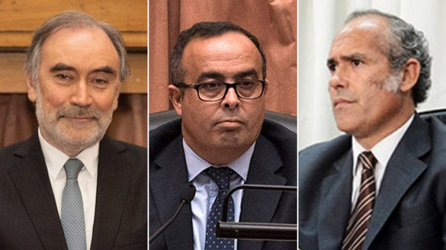 De izquierda a derecha, los jueces Leopoldo Bruglia, Pablo Bertuzzi y Germán Castelli.