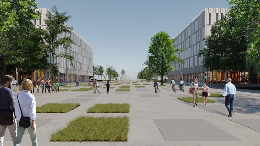 El barrio naútico que propone la Ciudad contempla complejos de edificios de hasta 10 pisos