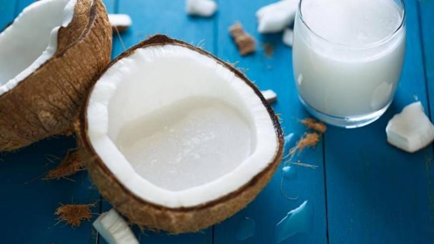La bebida de coco es una de las alternativas dentro de las bebidas vegetales