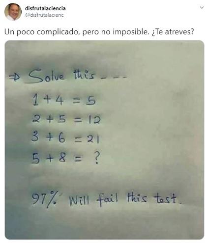 solo el 3% de las personas puede resolver este brutal problema matemático