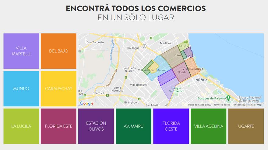 La web del municipio permite encontrar los comercios fácilmente.