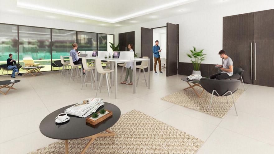 Solanas brinda espacios de coworking y oficinas para profesionales.
