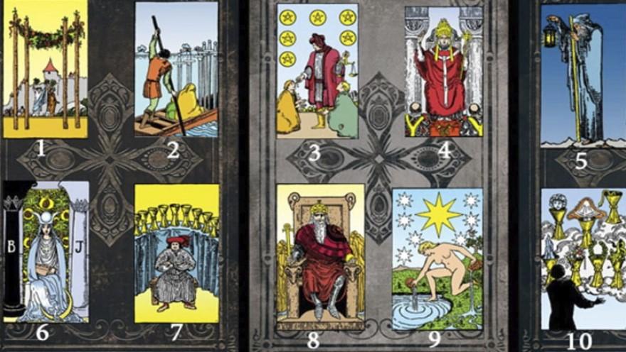 Varios test juegan con las cartas, entre ellas del tarot egipcio.