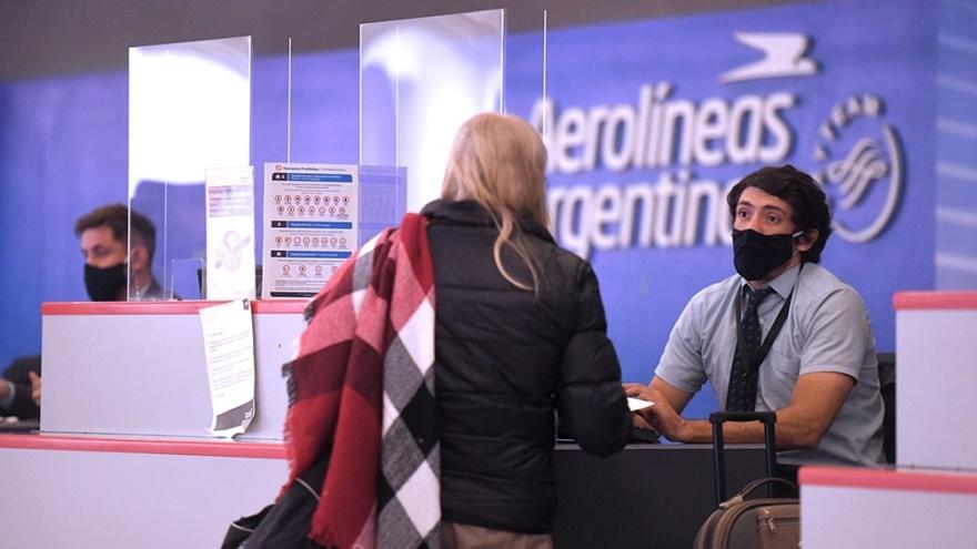 Aerolíneas Argentinas retomó sus vuelos regulares de cabotaje