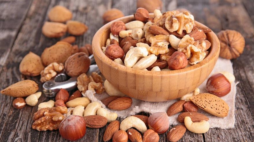 Los frutos secos son una saludable fuente de proteínas