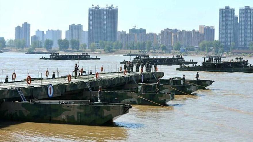 China: rapidez y coordinación para el avance de tropas.