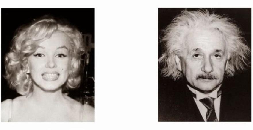 Cuando te alejas de la imagen, ¿ves a Albert Einstein o a Marilyn Monroe?