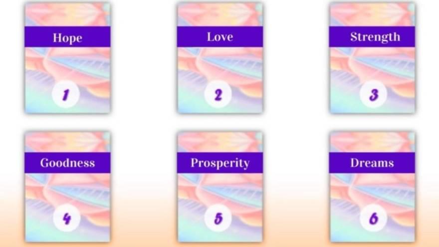Estas son las cartas que se pueden elegir