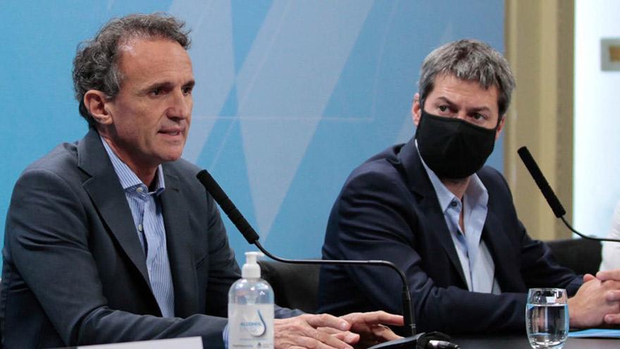 Katopodis y Lammens anunciaron la construcción de los módulos sanitarios.